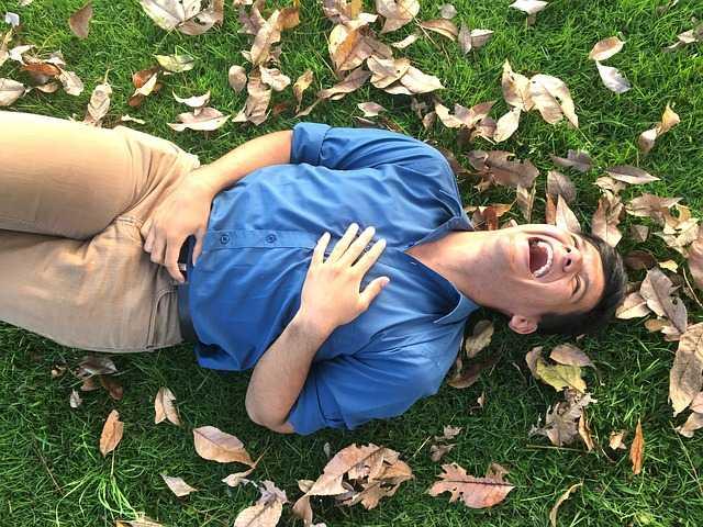 Человек на траве