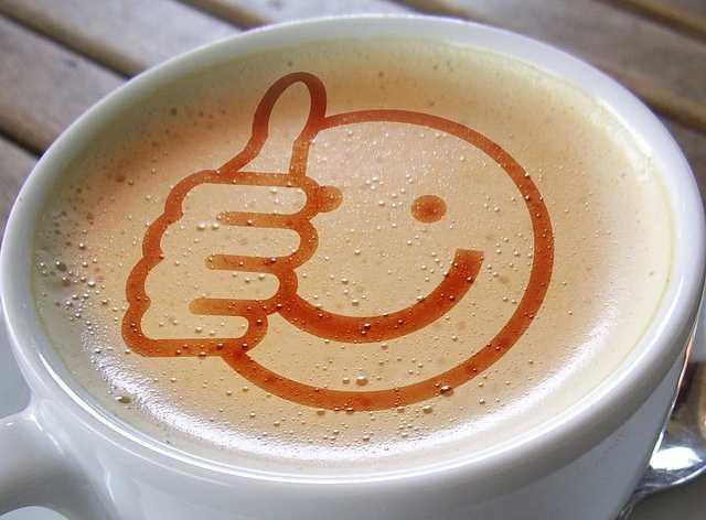 Лайк в чашке кофе