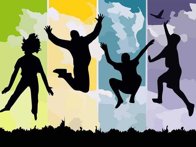 Люди в прыжке