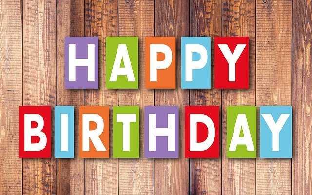Надпись: Happy Birthday - 4
